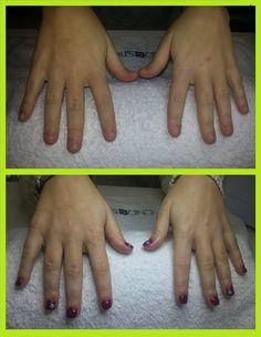 Acrylic nails + Shellac CND Titend Love