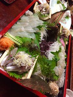 Fresh sashimi at Chikaei, Fukuoka