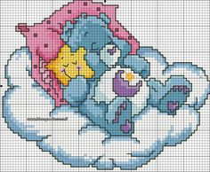 schema punto croce orsetto del cuore