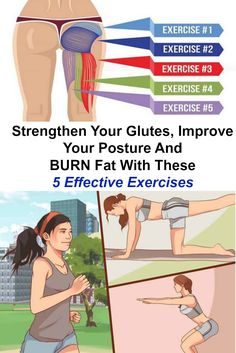 Strengthen Your Glutes, Improve Your Posture And BURN Fat With These 5 Effective Exercises Healthy Mind And Body, How To Stay Healthy, Posture Exercises, Improve Posture, Back Muscles, Burn Belly Fat, Weight Loss For Women, Butt Workout, Weight Management