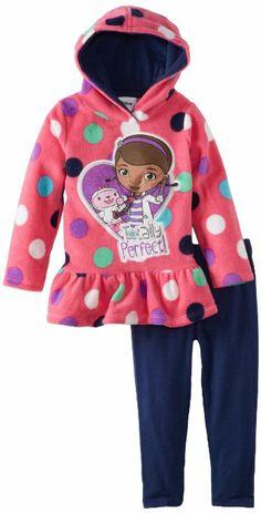 Disney Little Girls' Toddler Doc McStuffins 2 Piece Polka Dot Pulloverhood and Pant, Pink, Disney Princess Toys, Disney Girls, Disney Jr, Dresses Kids Girl, Toddler Girl Outfits, Toys For Girls, Kids Girls, Girl Fashion, Fashion Dresses