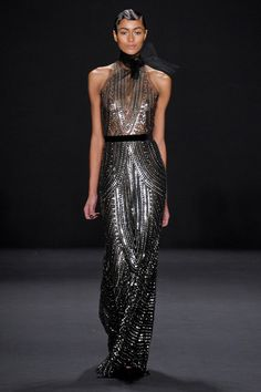 Without that tulle bow and we're golden.  Naeem Khan Fall 2013 RTW Collection - Fashion on TheCut