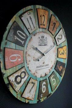 Amazon.de: Uhr Wanduhr Romantik Landhaus 60 Cm Vintage Antik Look II 73