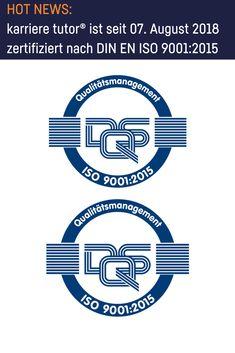 Qualitätsmanagement   karriere tutor® ist zertifiziert nach DIN EN ISO 9001:2015 Cavaliers Logo, Team Logo, Logos, Sports, Further Education, Career, Hs Sports, Logo, Sport