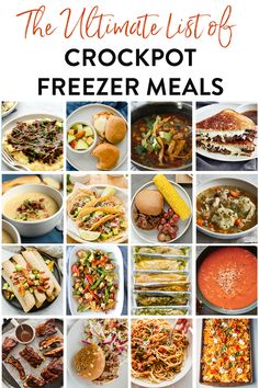 20+ Best of the Best Crockpot Freezer Meals. After testing hundreds of freezer meals for the slow cooker over the years, we have narrowed down the best of the best. This is the only list of make ahead freezer meals for the Crockpot you will EVER need. #slowcookerfreezermeal #crockpotrecipe #freezermeal #crockpotfreezermeal #slowcookerrecipe Slow Cooker Freezer Meals, Make Ahead Freezer Meals, Pulled Pork Recipe Slow Cooker, Pulled Pork Recipes, Slow Cooker Recipes, Crockpot Recipes, Homemade Bbq, Crock Pot, Chicken Nachos
