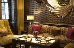 Flemings Mayfair front room for tea, london, uk