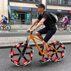 Running Shoe Bike at Prudential RideLondon