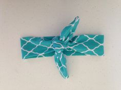Teal Bow Knot Headband. Suitable for NB through 10 yrs.