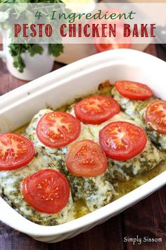 Pinterest Pesto Chicken Bake