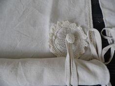Store fait avec draps anciens en lin et 3 niveaux de relevage manuel : Textiles et tapis par annbcreation
