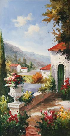 View From A Garden Of A House Painting by Unknown