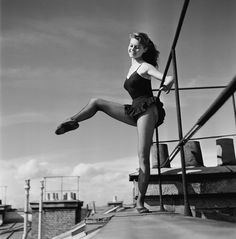 Brigitte Bardot was 18 years old when these pictures were taken in 1952 by photographer Walter Carone. She had excelled in dance as a child . Bridget Bardot, Brigitte Bardot Young, Marlene Dietrich, Barre Body, Ballet Poses, Greta, Cecile, French Actress, Oui Oui