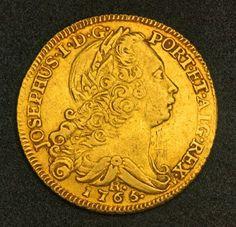 Brazilian gold coins 6400 Reis Gold Coin of King Joseph I.