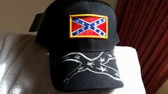 527c9ea7c2cc6 Confederate+Flag+on+a+new+black+Biker s+ball+cap+w tags +Confederate+or+ rebel+flag+on+a+new+black+biker s+ball+caps+with+tags.