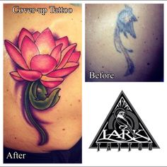 Cover-up tattoo by our artist Heather. See more of her work via her portfolio at: http://www.larktattoo.com/long-island-team-homepage/heather/
