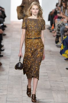 Michael Kors Fall 2015 RTW Runway – Vogue--Nice dress, but hate the shoes!