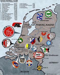Voetbal clubs in Nederland
