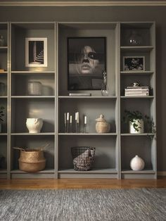 Interior Design Ikea, Beautiful Interior Design, Contemporary Interior Design, Billy Bookcase Office, Ikea Billy Bookcase Hack, Ikea Billy Hack, Billy Bookcases, Ikea Hack, Billy Regal
