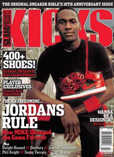 dd36f92442906c Kicks Magazine Anniversary Jordans Rule Kicks Magazine which is produced by Slam  Magazine turns and a special edition with Michael Jordan on the cover.