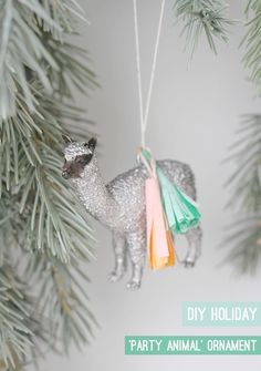 PARTY ANIMAL DIY HOLIDAY ORNAMENT  http://papernstitchblog.com/2012/11/28/new-holiday-diy-how-to-make-tasseled-party-animal-ornaments/#