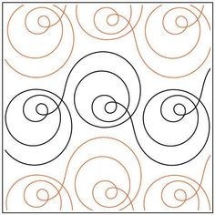 Most up-to-date Pic Ceramics Design pattern Suggestions Orbit quilting pantograph pattern by Sarah Ann Myers Quilting Stencils, Quilting Templates, Longarm Quilting, Free Motion Quilting, Quilting Ideas, Modern Quilting, Machine Quilting Patterns, Patchwork Quilt Patterns, Crazy Patchwork