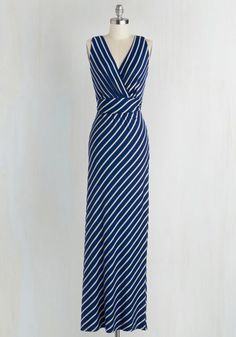 2cd2f1f11a3 Adore County Dress in Navy Stripes - Blue