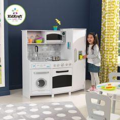 Gran Cocina blanca con luces y sonidos Kidkraft   cocinademadera #cocinadejuguete  http://giocojuguetes.com/cocinitas-accesorios/1615-gran-cocina-blanca-con-luces-y-sonidos-kidkraft-53369.html