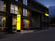 LED Leuchtwerbung Schöb AG, Totem Publicitaire, Stele, Pylone, Panneaux, LED