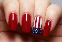 Holiday Nail Designs, July 4th Nails Designs, 4th Of July Nails, Holiday Nail Art, Summer Nail Art, Summer Toe Nails, Pedicures, Manicure Y Pedicure, Pretty Nails
