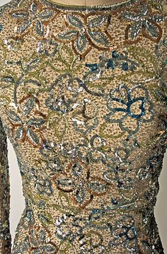Another sample of the embroidery from Norman Norell.