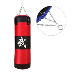 """39"""" 100cm MMA Boxing Heavy Punching Training Practice Sand Bag Empty With Chain #Unbranded"""