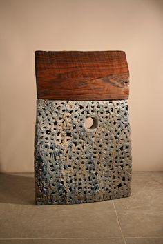 Brandon Reese, House, Ceramics and wood.