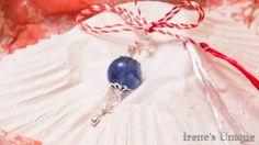 ✿ Pandantiv Talisman Cuart Albastru 15,00 RON Ron, Christmas Bulbs, Holiday Decor, Unique, Handmade, Home Decor, Hand Made, Decoration Home, Christmas Light Bulbs