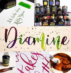 Wunschbriefes Tintentest: Schimmertinten des englischen Traditionshauses Diamine / Inktest Diamine Shimmering Inks About Me Blog, Birthday, Amazing, Cake, Desserts, Food, Dyes, Tailgate Desserts, Birthdays