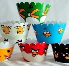 Angry Birds cupcake wrappers