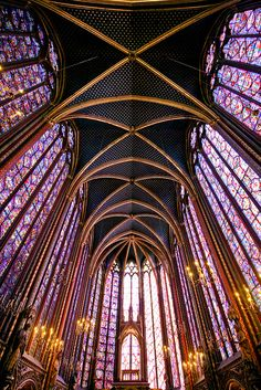 sainte chappelle - a masterpiece in flamboyant gothic  So much better in person.  A must see in Paris