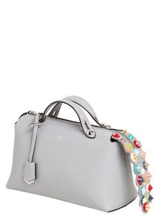 FENDI SMALL BY THE WAY STUDDED LEATHER BAG, LIGHT BLUE. #fendi #bags #shoulder bags #hand bags #leather #