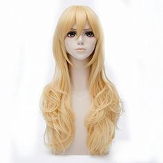 Cosplayvoice 65cm Curly Golden Anime Cosplay Wig * For more information, visit image link.