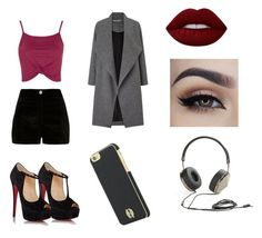 """Untitled #9"" by christine-lacher on Polyvore featuring River Island, Topshop, Christian Louboutin, Miss Selfridge, House of Harlow 1960, Frends and Lime Crime"