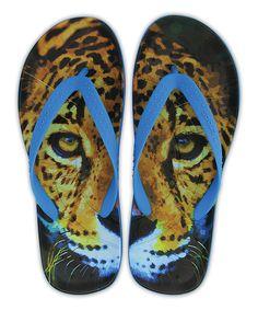 Look at this Ocean Leopard Chawaii Flip-Flop - Women & Men on #zulily today!