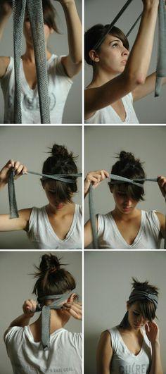 criss cross headband using a piece of fabric