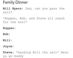 Steve adopted the whole party