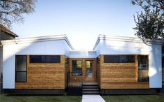 Austin-based Ma Modular finished their first prefab, the Luna House, with 1,500 square feet, green materials, rainwater harvesting, and solar panels