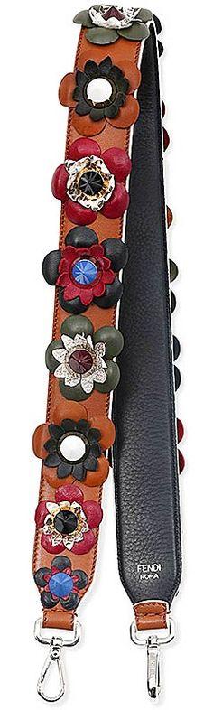 "The next ""IT"" accessory trend - Fendi floral stud guitar strap"