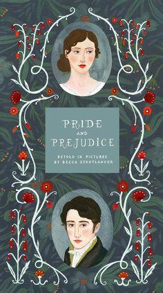 """Pride and Prejudice, illustrated by Becca Stadtlander for Frances Lincoln's """"CLASSICS UNFOLDED"""" series. http://beccastadtlander.blogspot.com/2015/02/pride-and-prejudice-secret-garden.html"""