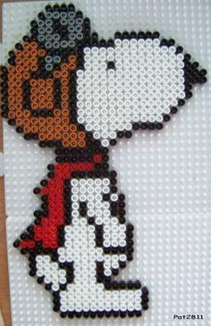 Snoopy Perler Sprite
