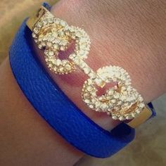 I just added this to my closet on Poshmark: ⚡️$15 SALE⚡️Blue infinity wrap bracelet. Price: $15 Size: OS