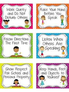 Classroom Rules Posters Dots or Chevron is part of Classroom rules poster This is a set of 6 classroom rules to display in your classroom They come with a Polka Dot Background, Chevron or plain bo - Preschool Classroom Rules, Emotions Preschool, Classroom Rules Poster, Classroom Charts, Classroom Board, Classroom Language, Classroom Behavior Chart, Classroom Organisation, Classroom Management