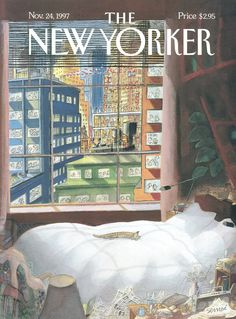 "The New Yorker - Monday, November 24, 1997 - Issue # 3776 - Vol. 73 - N° 36 - Cover ""Luxurious, Quiet, and Cozy"" by ""Sempé"" - Jean-Jacques Sempé"