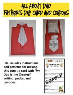 Kids will be jazzed to make this neat card for Father's Day!